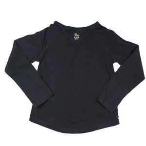 1989 PLACE Black Long Sleeve Basic Top S (5/6)